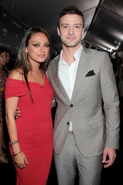 Mila Kunis, left, and Justin Timberlake are shown at the premiere of