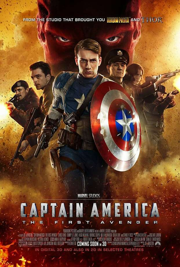 "The poster for ""Captain America: The First Avenger."" Photo: Marvel Entertainment"
