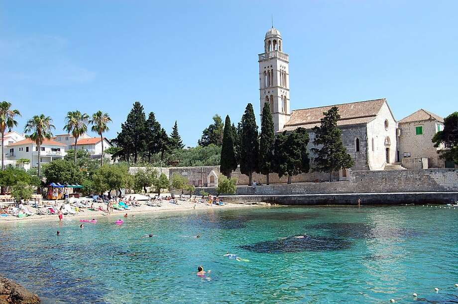 The island of Hvar offers a number of pebbly beaches and crystal-clear water for swimming. Photo: Cameron Hewitt