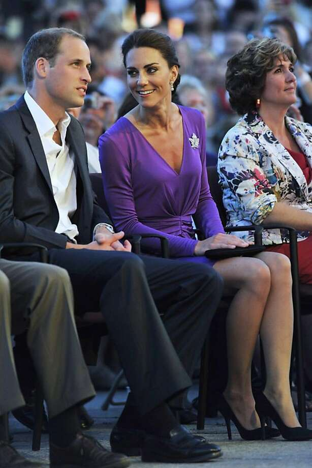 Prince William, Duke of Cambridge and Catherine, Duchess of Cambridge attend the Evening National Canada Day Celebrations in the capital accompanied by representatives of the National Capital commission on July 12, 2011 in Ottawa, Canada. Photo: David Rose, Getty Images