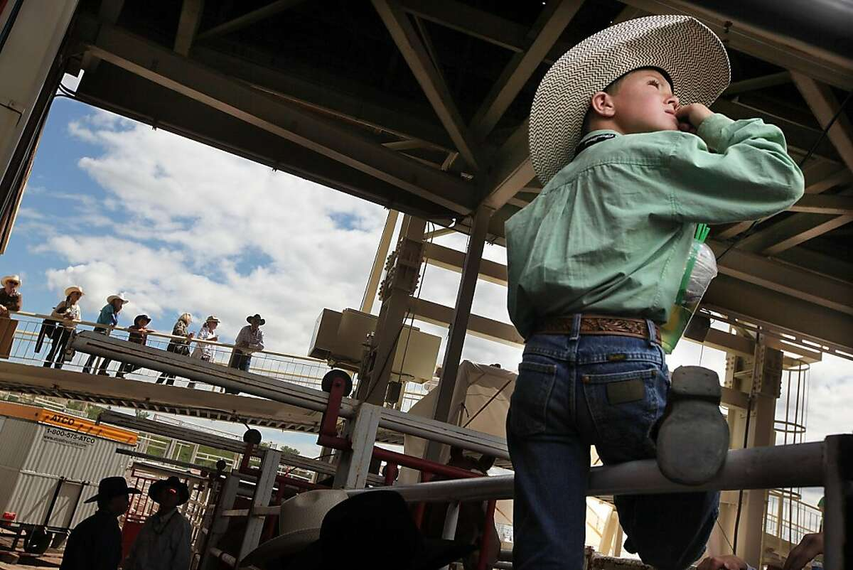 CALGARY, AB - JULY 10: Cowboys and spectators gather at the annual Calgary Stampede on July 10, 2011 in Calgary, Canada. The ten-day event featuring over one million visitors is CanadaÍs largest annual rodeo and is billed as the