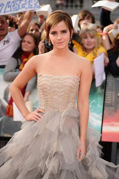 LONDON, ENGLAND - JULY 07:  Actress Emma Watson attends the World Premiere of Harry Potter and The D