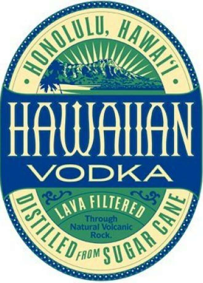 One of the newest spirits to be distilled in Hawai'i is Hawaiian Vodka, made in Honolulu and bottled with this retro label. Photo: Island Distillers