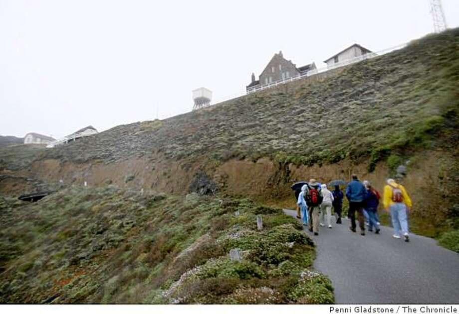 Led by a docent, visitors walk up to Point Sur Lighthouse 3-hour tour on Highway 1, south of Carmel.  Event on 5/2/07 in Point Sur. Photo: Penni Gladstone, The Chronicle
