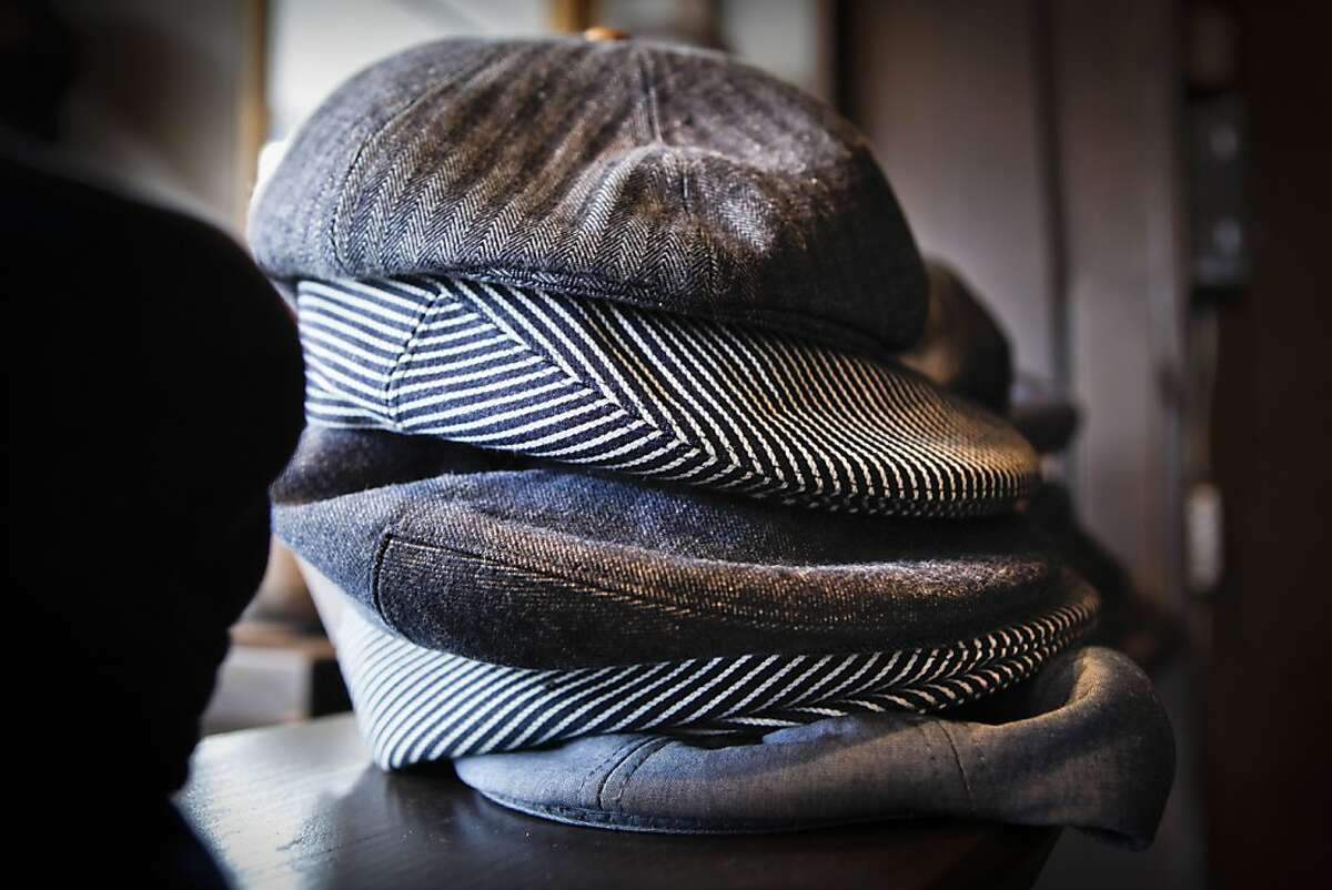 Hats made by tailor and shoemaker Al Ribaya sit in his North Beach store, Al's Attire, on Tuesday, May 17, 2011 in San Francisco, Calif.