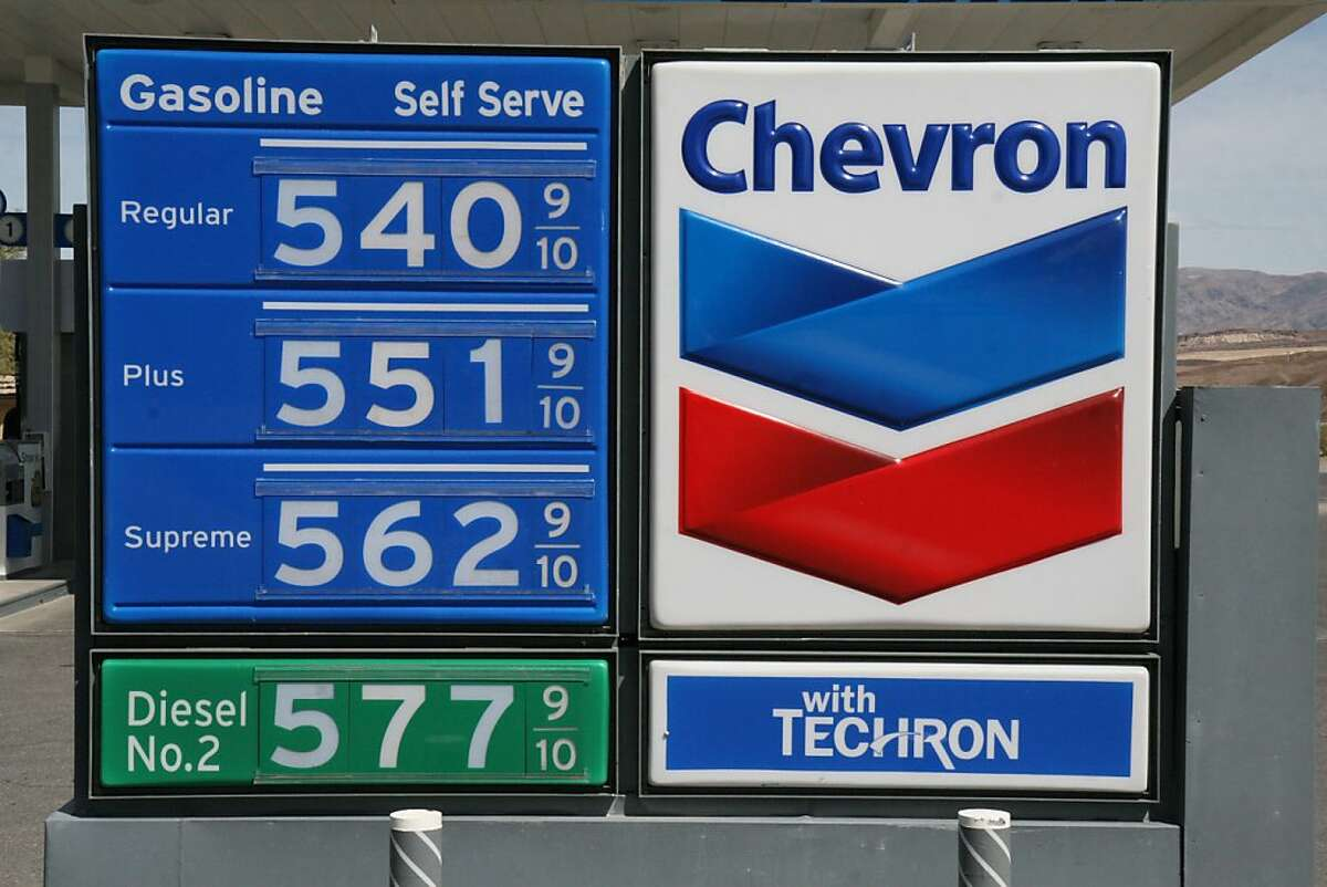 Retail prices (self, not full serve) at the Furnace Creek Chevron station in Death Valley National Park on March 30, 2011.