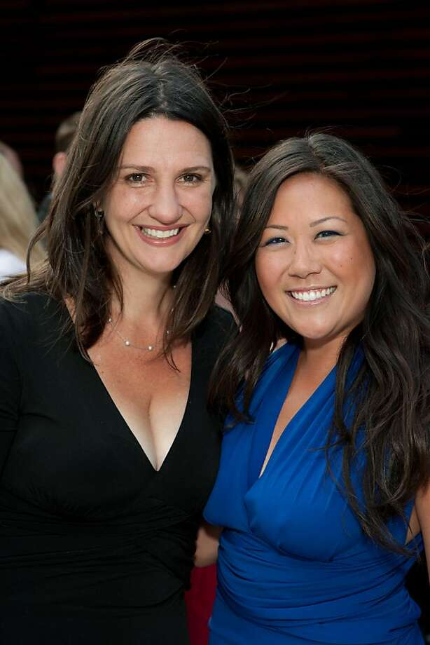 Symphonix President Kathryn Pellegrini Inglin (left) and board member Ye-Hui Lu at the Phoenix Hotel for the Symphonix Summer Soiree. July 2011. By Drew Altizer. Photo: Drew Altizer, Special To The Chronicle