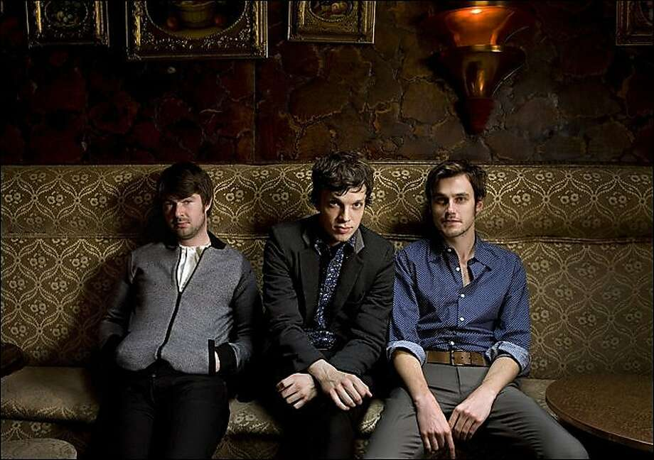 Friendly Fires ... Jack Savidge, Ed Mac and Edd Gibson Photo: The Sun