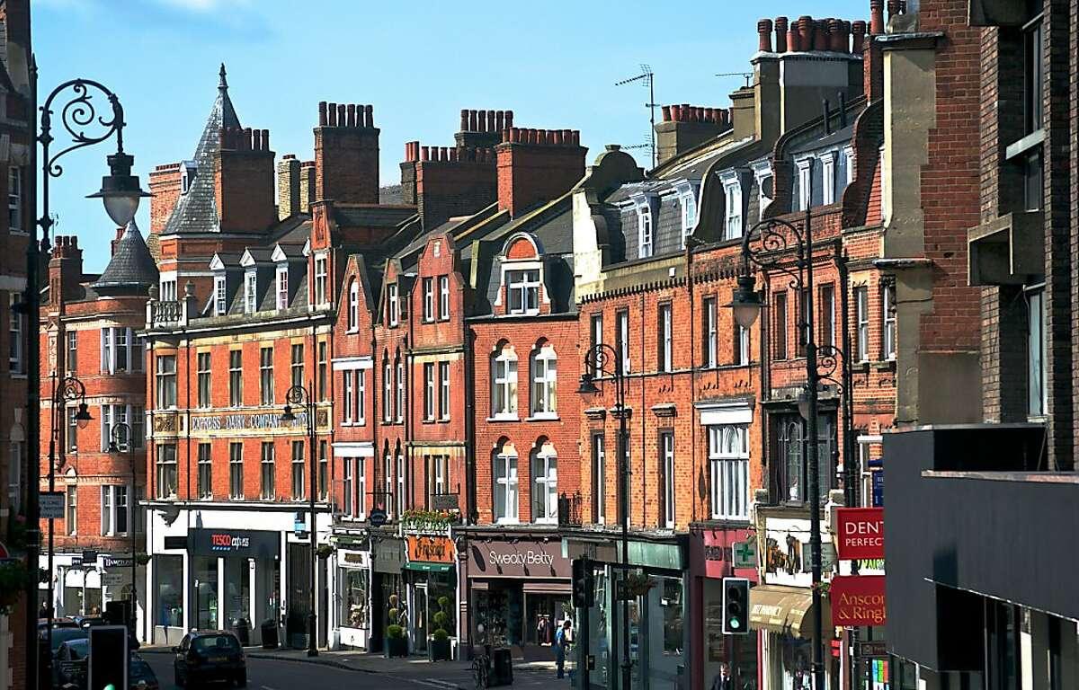Hampstead's High Street in London.