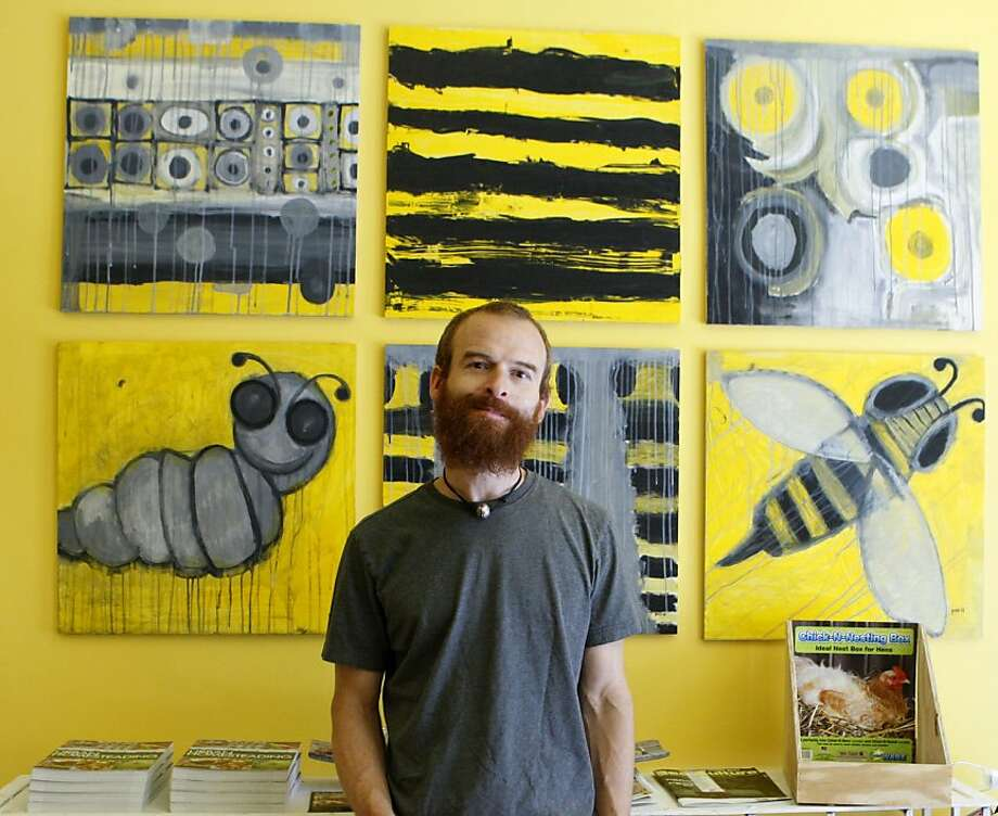 Bryon Waibel, a San Francisco beekeeper, has reopened Her Majesty's Secret Beekeeper, the country's only urban beekeeping store. In his shop he sells a variety of honey. He poses in his shop on Saturday, July 23, 2011, in San Francisco, Calif. Photo: Michelle Terris, The Chronicle