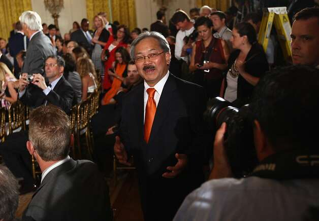 San Francisco Mayor Ed Lee attends an event where U.S. President Barack Obama welcomed the World Series champions San Francisco Giants to the East Room of the White House in Washington. Photo: Win McNamee, Getty Images