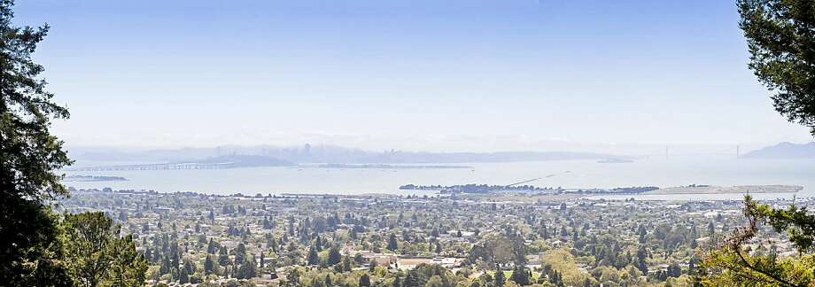 From its perch on a Berkeley slope, the property offers 270-degree panoramic views of the Bay. Photo: Scott Hargis