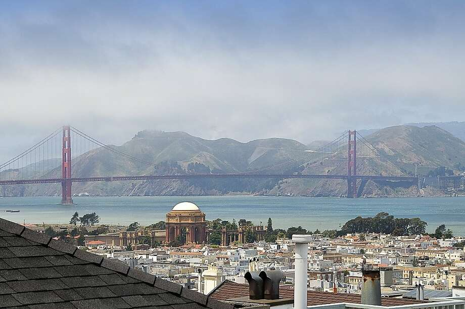 Among the many views the property affords, the Golden Gate Bridge looms in the distance. Photo: OpenHomesPhotography.com