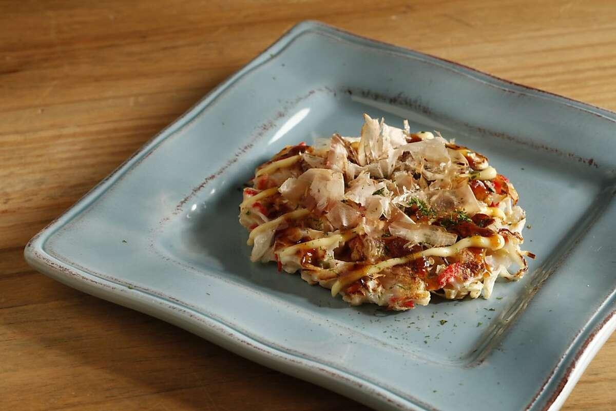 Shimo's Osaka-style okonomiyaki. Styling by by Janny Hu.