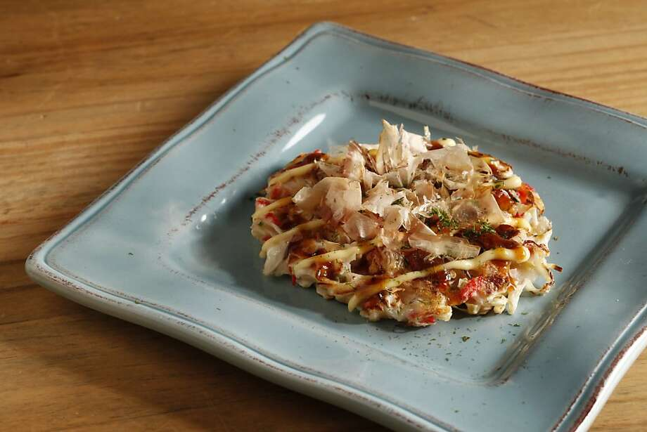 Shimo's Osaka-style okonomiyaki. Styling by by Janny Hu. Photo: Craig Lee, Special To The Chronicle