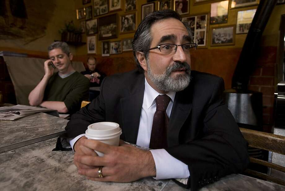 Outgoing San Francisco Board of Supervisors President Aaron Peskin has coffee at the Caffe Trieste in San Francisco's North Beach on Wednesday,  Dec. 31, 2008. Photo: Kim Komenich, The Chronicle