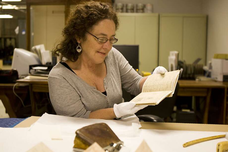 Dorris Welch is curating a major museum show on John Muir in August. She had been a Muir fan since age 10 and talked the museum into the show. Most of the artifacts come from University of Pacific, including Muir's handwritten journals which are now being cataloged at an undisclosed warehouse before being transfered to the museum. Photo: Maddie McGarvey, The Chronicle