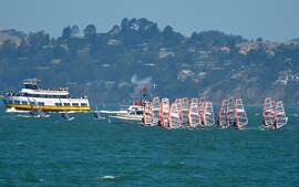 Youth windsurfers from 26 countries get the start gun on Day 1 of world championships held July 21-24.
