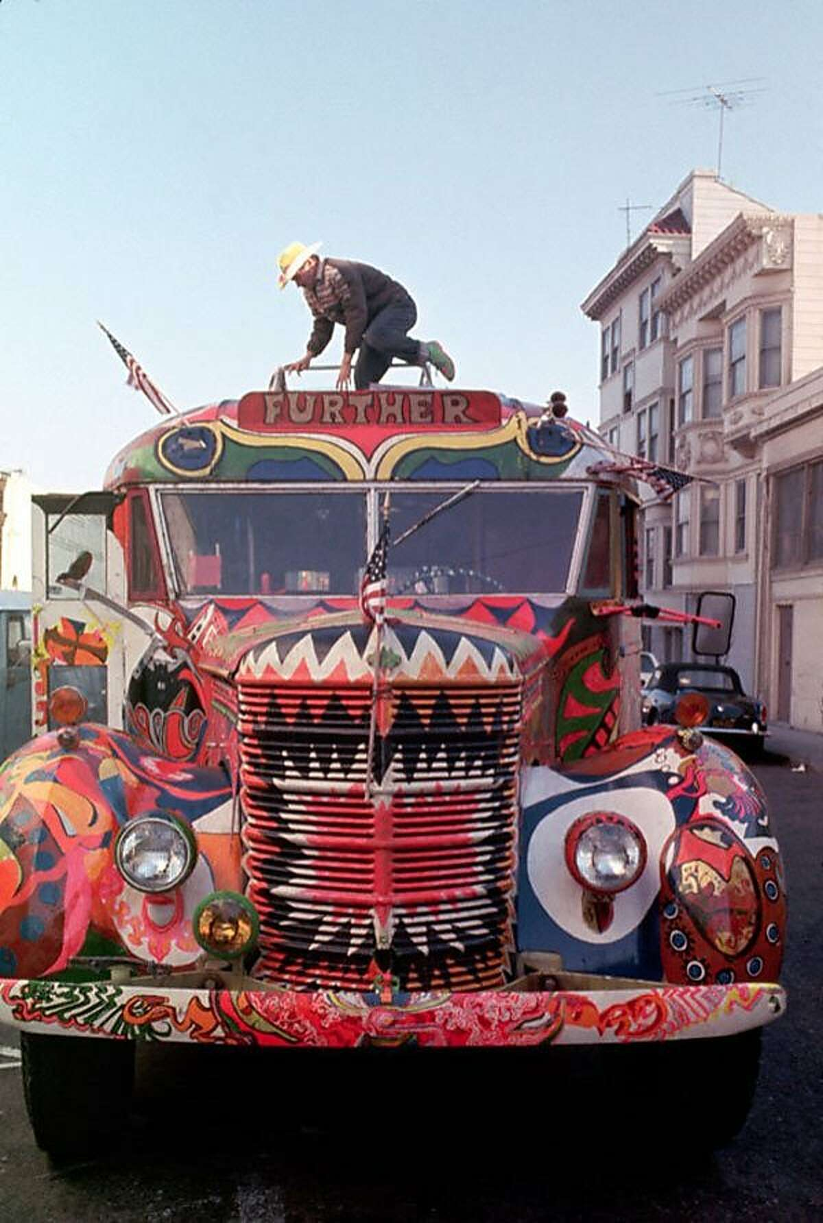 The bus used by Ken Kesey and the Merry Pranksters in 1964, as seen in the documentary