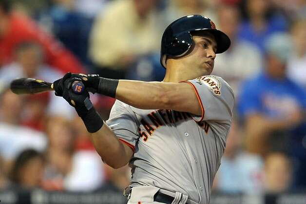 PHILADELPHIA, PA - JULY 28: Carlos Beltran #15 of the San Francisco Giants strikes out in his second at bat during the game against the Philadelphia Phillies at Citizens Bank Park on July 28, 2011 in Philadelphia, Pennsylvania. Photo: Drew Hallowell, Getty Images