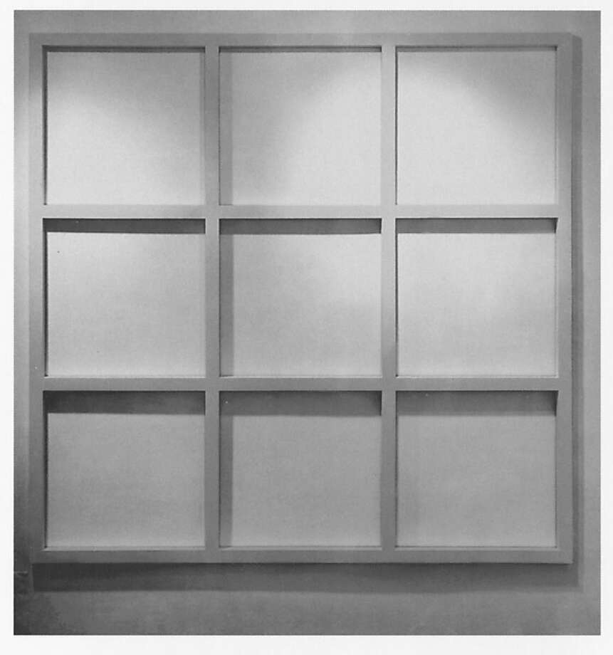 Sol LeWitt, Wall Grid (3 x 3), 1966; painted wood; 71 x 71 x 1 5/8 in.; Collection SFMOMA, purchase through the Phyllis C. Wattis Fund for Major Accessions; ? 2011 The LeWitt Estate / Artists Rights Society (ARS), New York Photo: Sol LeWitt