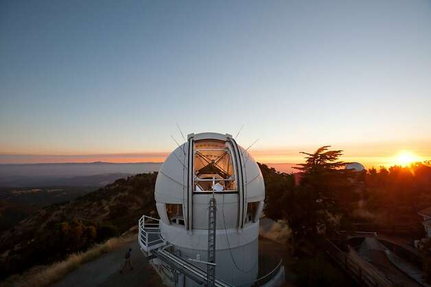 The evening sky at the top of Mount Hamilton at the Lick Observatory on Wednesday, August 4, 2010 in San Jose, Calif. Sixty specialized cameras that operate at UC's Lick Observatory, the Fremont Peak Observatory and a ground-based site, formerly in Mountain View but now in Lodi under a project called Cameras for Allsky Meteor Surveillance, constantly monitor the night sky for meteoroids. Photo: John Sebastian Russo, The Chronicle 2010
