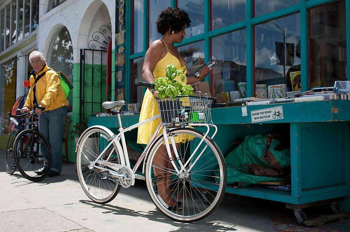 The Slow Bike Movement is made up of people who bike in their regular clothes and ride bicycles that allow them to sit more upright.