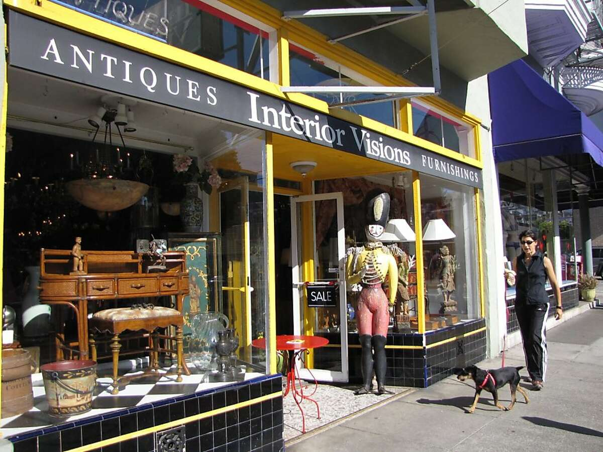 Interior Visions is an antique and furnishings store.