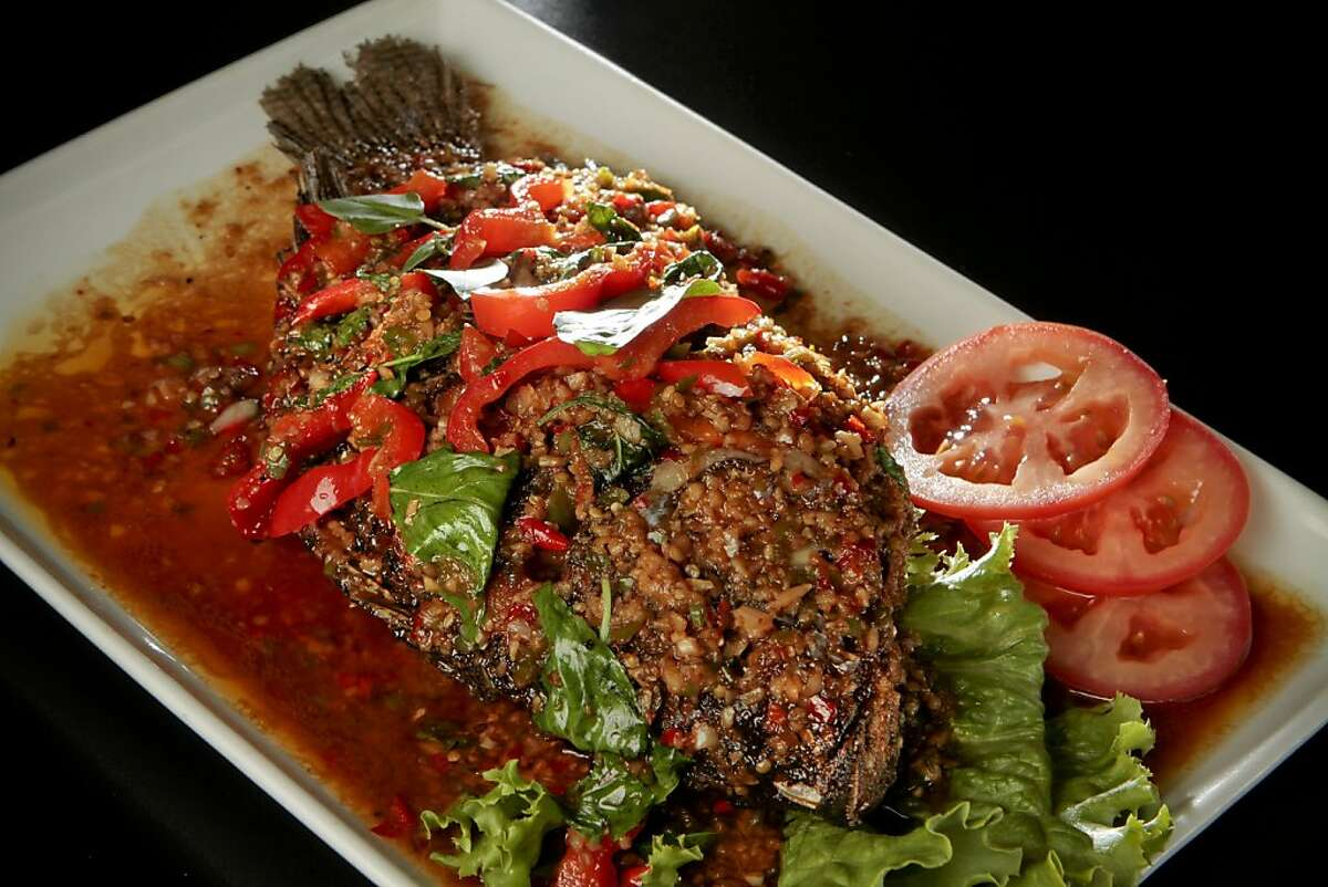 The whole fried Tilapia at Lers Ros Restaurant in San Francisco, Calif., is seen on July 23rd, 2011.