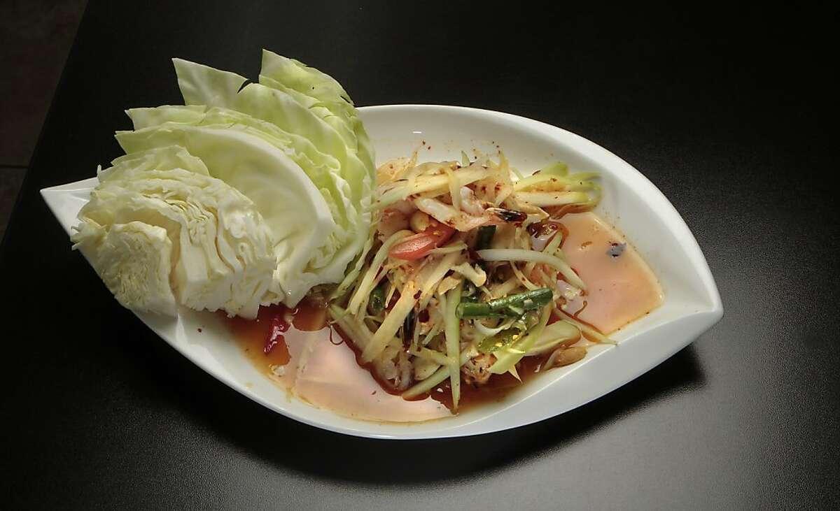 The shredded Green Papaya Salad at Lers Ros Restaurant in San Francisco, Calif., on July 23rd, 2011.
