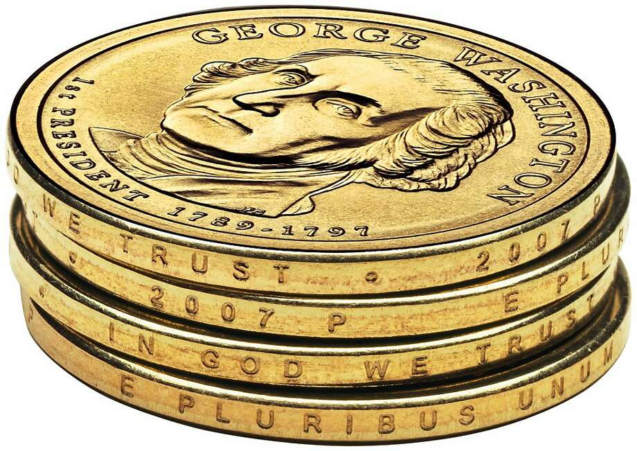 Can the Founding Fathers succeed where Susan B. Anthony and Sacajawea failed? The U.S. Mint is betting that Americans are finally ready to embrace a $1 coin with ThursdayÕs rollout of a new presidential dollar. The new general-circulation currency will honor all the nationÕs presidents in the order they served, starting with Washington, Adams, Jefferson and Madison this year. With creeping inflation, currency officials insist that the time is finally ripe for a bigger-denomination coin and say that they think the new coin will find fans among the same folks who snapped up the popular state quarters. Photo: Courtesy Of The United States Mi