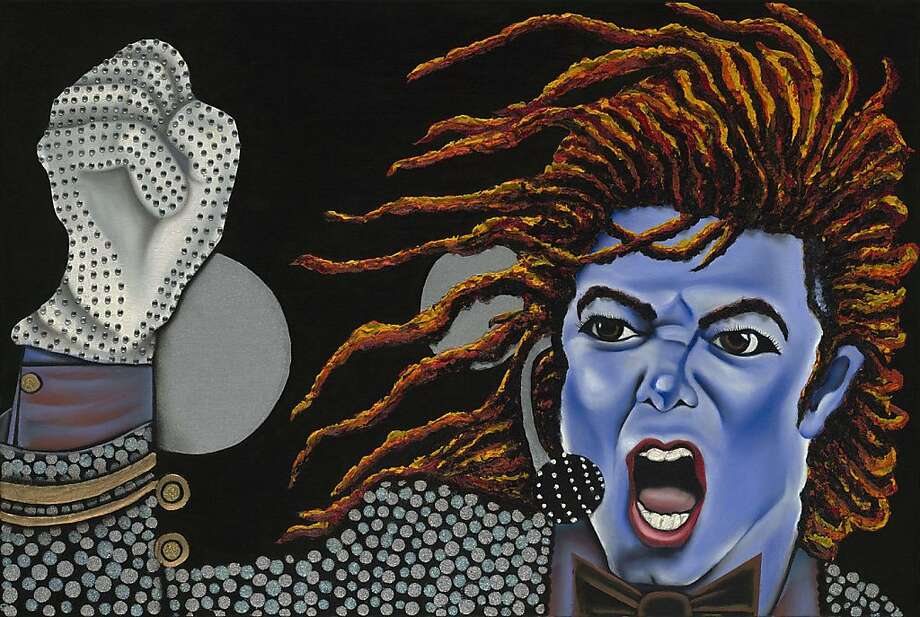 "tina turner - ""green"" painter Nanette Harris' artwork is featured in Blue People by a Green Painter part of AfroSolo Arts Festival 18 Photo: Nanette Harris"