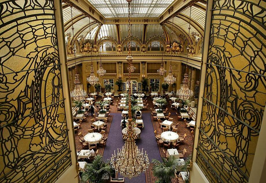 The Garden Court at the Palace Hotel in San Francisco, Calif., on Thursday August 20, 2009.  The hotel on New Montgomery Street is celebrating it's 100 year anniversary following a rebuilding in 1909. Photo: Michael Macor, The Chronicle