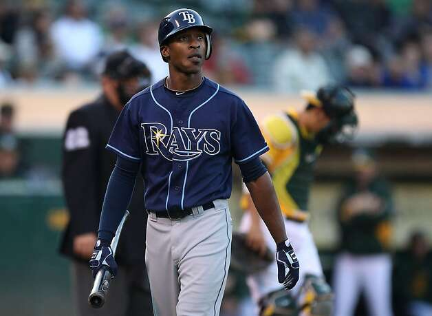 OAKLAND, CA - JULY 26:  B.J. Upton #2 of the Tampa Bay Rays strikes out in the first inning against the Oakland Athletics at the O.co Coliseum on July 26, 2011 in Oakland, California. Photo: Jed Jacobsohn, Getty Images