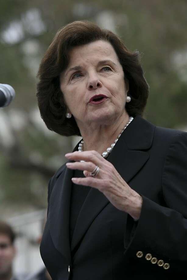 Senator Dianne Feinstein Photo: John Sebastian Russo, The Chronicle