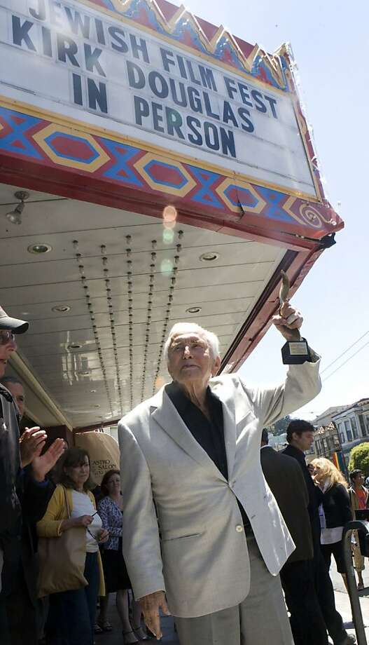 Kirk Douglas stands outside of the Castro Theatre on Sunday, July 24, 2011, after receiving this year's Jewish Film Festival's Freedom of Expression Award at the in San Francisco, Calif. Photo: Michelle Terris, The Chronicle