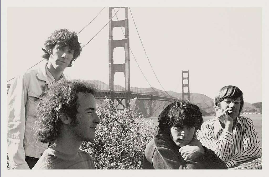 The Doors during a 1967 San Francisco visit. From the left John Densmore & Early S.F. Doors show breaks on through to CD - SFGate Pezcame.Com
