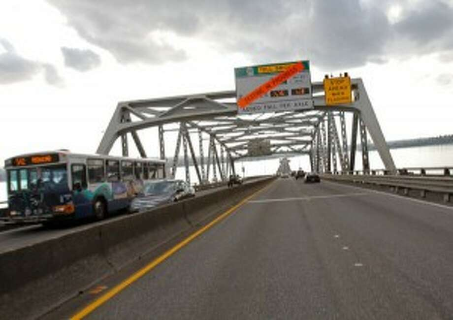 In case you missed the signs, electronic tolling starts Thursday on the state Route 520 Bridge. Photo: Joe Dyer/seattlepi.com