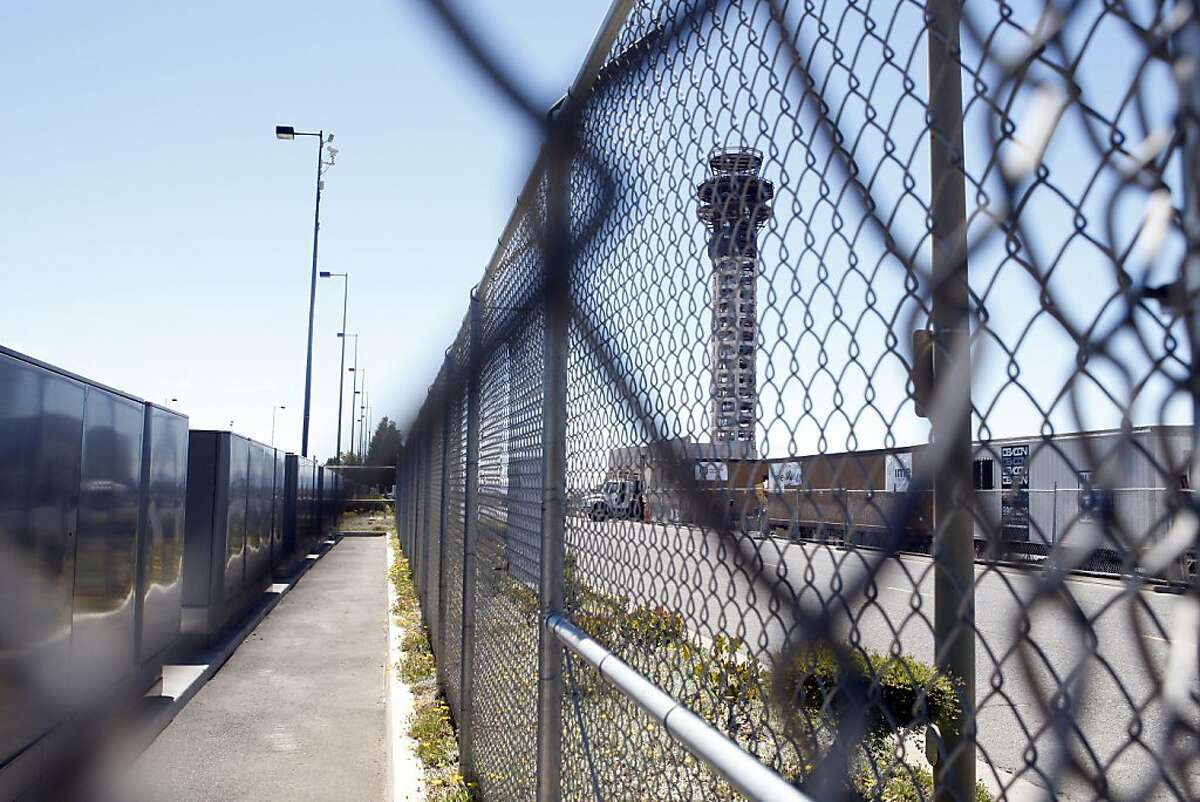 Construction of Oakland International Airport's 236 ft. high control tower has stopped as a result of the federal budget stalemate.