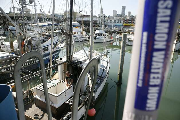 A commercial fisherman who declined to give his name said he hasn't been able to prepare his boat for salmon fishing yet. The commerical salmon fishing season is set to open Sunday, May 1, 2011, the first full season since 2007. Photo: Anna Vignet, The Chronicle