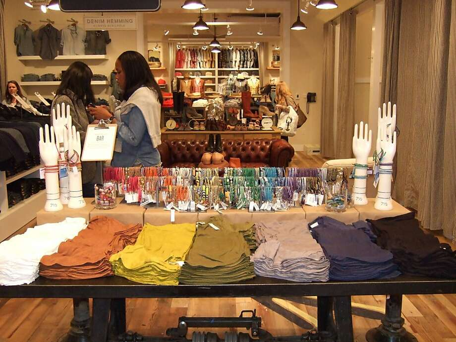 The bracelet bar at Madewell, which opened its first San Francisco store July 12, 2011. Photo: Laura Compton