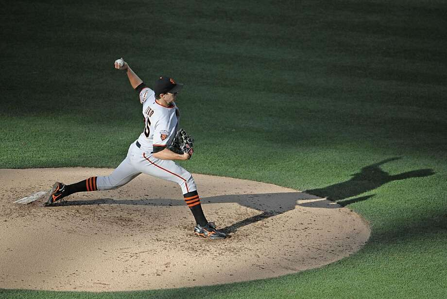 Barry Zito #75 of the San Francisco Giants pitches during the third inning of a baseball game against the San Diego Padres at Petco Park on July 16, 2011 in San Diego, California. Photo: Denis Poroy, Getty Images