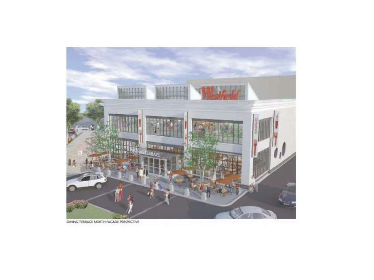 Drawings of planned renovations at Westfield Trumbull mall. The Trumbull Planning and Zoning Commission gave unanimous approval for a $25 million renovation on Wednesday night.