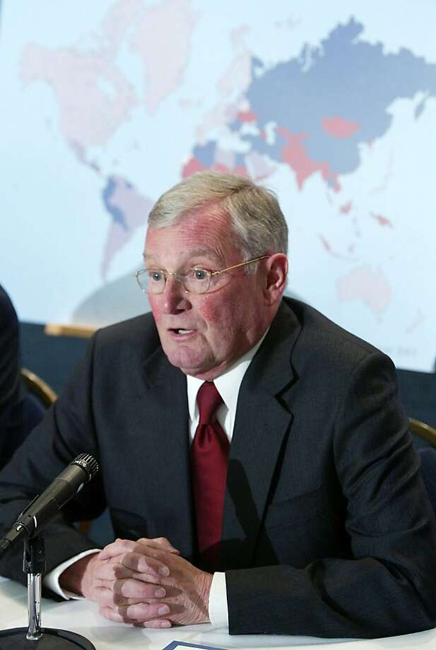 WASHINGTON - FILE:  Member of the Seattle Initiative for Global Development, former chairman of the joint chiefs of staff John Shalikashvili, speaks during a media conference January 26, 2004 in Washington, DC. It was reported that retired Army Gen. JohnShalikashvili, a former chairman of the Joint Chiefs of Staff has died at 75 July 23, 2011. Photo: Alex Wong, Getty Images