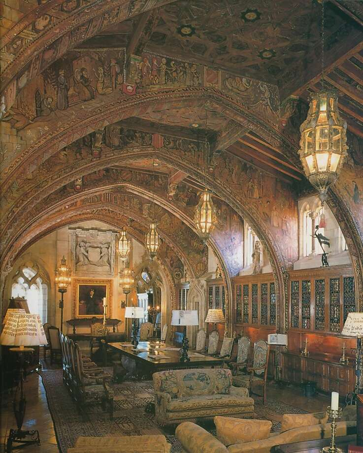 Hearst's private library, which had several pieces that were of interest to Habersham's furniture designers. Photo: 2008 Hearst Castle, California State Parks