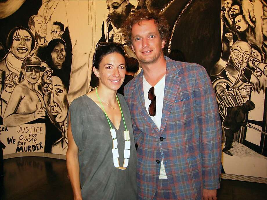 This creative couple is making a splash in San Francisco's art and design scene. Yves Behar is an industrial designer and entrepreneur, who founded Fuseproject, an award-winning industrial design and brand development firm. Sabrina Buell worked as an art professional in New York for 12 years and is now an art advisor in San Francisco. Photo: Catherine Bigelow, Special To The Chronicle