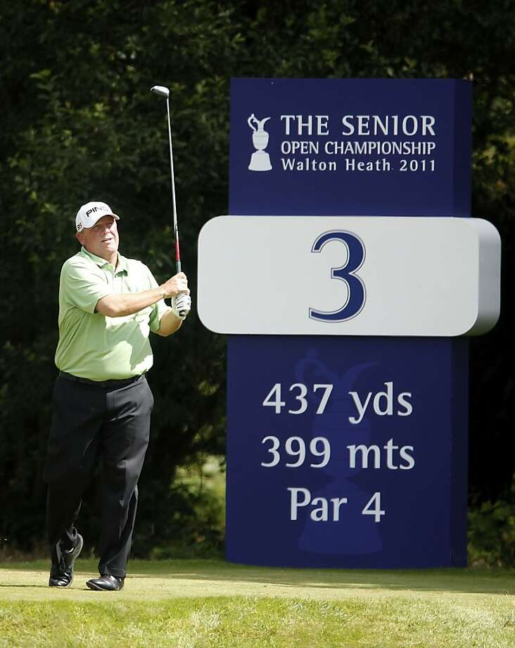 TADWORTH, ENGLAND - JULY 22:  Mark Calcavecchia of USA in action during the second round of The Senior Open Championship played at Walton Heath Golf Club on July 22, 2011 in Tadworth, England. Photo: Phil Inglis, Getty Images