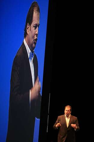 CEO Marc Benioff of Dreamforce was the main speaker at there annual customer conference at the Moscone Center in San Francisco, Calif on Monday November 3, 2008. Photo: Frederic Larson, The Chronicle
