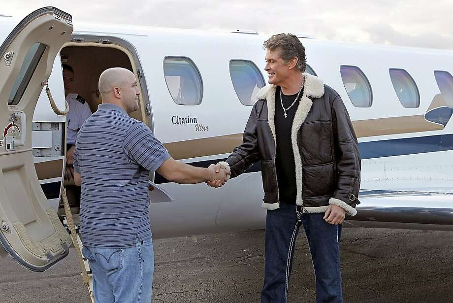 """Pilot""--Celebrity David Hasselhoff trades places with David Hasselhoff Junior of Lake Jackson, Texas on the season premiere of SAME NAME Sunday, July 24 (9:00 -10:00 PM ET/PT) on the CBS Television Network. Photo: Sonja Flemming, CBS"