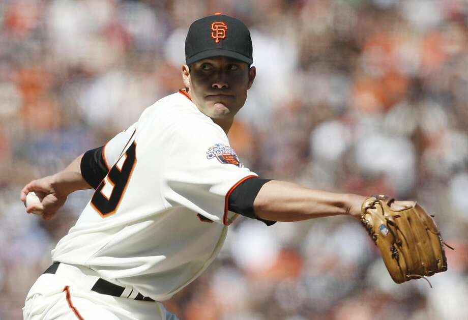 Javier Lopez pitches for the Giants in their final game of their series against the Diamondbacks at AT&T Park in San Francisco Calif, on Thursday, May 12, 2011. Photo: Alex Washburn, The Chronicle